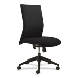 United Chair FreeStyle Series Armless Swivel Task Chair, Black Polyester