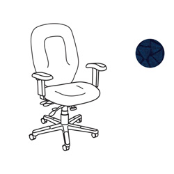 United Chair Savvy SVX11 Management Chair with Arms - Polyester Sapphire, Acrylic Seat
