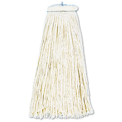 Jan San  Mop Head Economical Lieflat Head Cotton Fiber 12 Oz. White