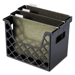File Folder Holders.  Universal Office Products Recycled Plastic Desktop File Holder 13 1 4w x 8 5 8d x 10 3 4h Black