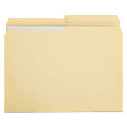 Universal Manila File Folders, 2 Ply Top Tabs, 1/2 Cut, Letter Size, 100/Box