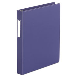 Binders  D Ring Binder With Label Holder 1inch Capacity 8 1 2 x 11 Navy Blue