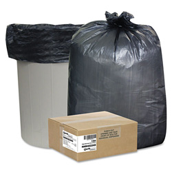 Webster High-Density Recycled Can Liners, 40-45 gal, 22 mic, 40 x 48, Black, 150/Carton