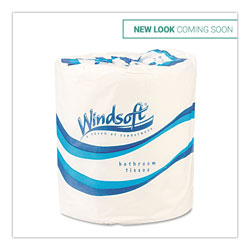 Windsoft Facial Quality Bulk Toilet Tissue, One Ply, 4 1/2 x 3 3/4, White