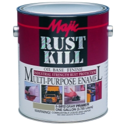 Majic Paint Rust Kill Multi Purpose Enamel, Gallon Gray Primer