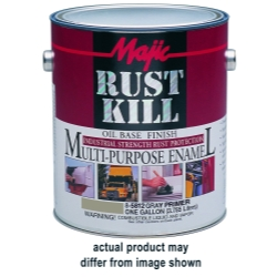 Majic Paint Rust Kill Multi Purpose Enamel, Gallon Machine Green