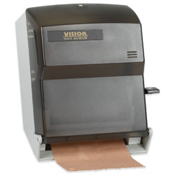 Lever Action Hard Roll Paper Towel Dispenser, Smoke Gray