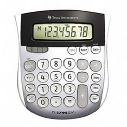 Texas Instruments TI-1795SV 8-Digit Handheld Calculator with Tax Key, Solar Power. Sold Individually
