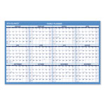 "At-A-Glance Reversible/Erasable Horizontal Format Wall Planner, Yearly, 36"" x 24"", Blue/White"