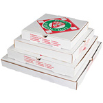 Pizza Box Takeout Container, 12in Pizza, White, 12w x 12d x 2 1/2h