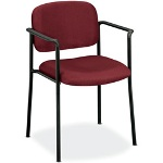 "Basyx by Hon Guest Chair With Arms, 23-1/4"" x 21"" x 32-3/4"", Burgundy"