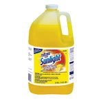 Diversey Sunlight Pot & Pan Dishwashing Liquid, Lemon, 1 gal