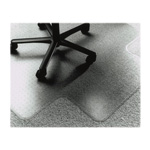 "SkilCraft Chair Mat, Floor, 46"" x 60"" x 127"", 25"" x 12"" Lip, Vinyl/Clear"