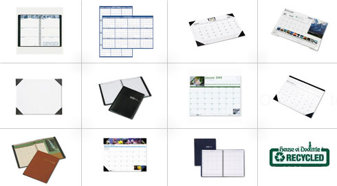 Save on all House of DooLittle 100% Recycled Desk Pads, Appointment Books, Wall Calendars and More.