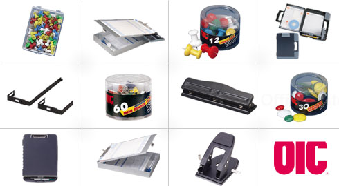 Discount Officemate Office Supplies. Wholesale priced push pins, clipboards and more.