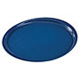 "Cambro 15.35"" Round EpicTread Tray, Spanish Blue"