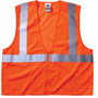 Ergodyne Economy Vest Class Ii Mesh Zipper Orange 2xl/3xl