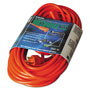 Coleman Cable Vinyl Outdoor Extension Cord, 50ft, 13 Amp, Orange