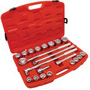 "Cooper Hand Tools 21-Piece Mechanic's Tool Set, SAE, 3/4"" Drive, 7/8"" to 2"", 12-Point Sockets"