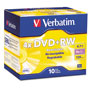 Verbatim DataLifePlus - 10 x DVD+RW - 4.7 GB 4X - Jewel Case - Storage Media