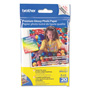 "Brother BP 61GLP Premium Glossy Photo Paper - Glossy Photo Paper - 9 Mil - 4"" x 6"" - 190 G/m2 - 20 Sheet(s)"