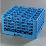 Carlisle Foodservice Products NeWave 30-Compartment Glass Rack with 4 Extenders, Blue