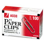 Acco Smooth Finish Economy Paper Clips, No. 3 Size