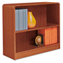 "Alera Wood Veneer 2-Shelf Radius Corner Bookcase, Finished Back, 36"" x 12"" x 30"", Cherry"