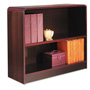"Alera Wood Veneer 2-Shelf Radius Corner Bookcase, Finished Back, 36"" x 12"" x 30"", Mahogany"