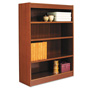 "Alera Wood Veneer 4-Shelf Square Corner Bookcase, Finished Back, 36"" x 12"" x 48"", Cherry"