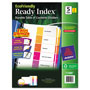Avery Index Tabs, 1-5, Multicolor