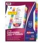 Avery Ready Index® A-Z Index Tabs, Multicolor
