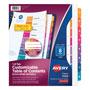 Avery Ready Index® Extra-Wide Table of Contents Dividers, 8-Tab Set, Multicolor