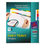 Avery Index Maker® Clear Label Dividers, 12-Tab Set, Multicolor