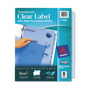 Avery Index Maker® Translucent Clear Label Dividers, 8-Tab Set, Blue