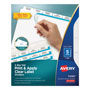 Avery Big Tab™ Index Maker® Clear Label Dividers, 5-Tab, 1 Set, White, White