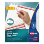 Avery Big Tab™ Index Maker® Clear Label Dividers, 8-Tab, 5 Sets, White