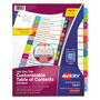 Avery Ready Index Table of Contents Dividers, Multicolor Tabs, Jan-Dec, Letter