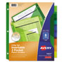 Avery Big Tab™ Two-Pocket Insertable Plastic Dividers, 8-Tab Set, Multicolor