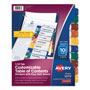 Avery Ready Index® Easy Edit™ Table of Contents Dividers, 10-Tab, 6 Sets, Assorted Colors