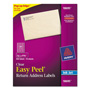 "Avery Easy Peel Mailing Labels for Inkjet Printer, 2/3""x1 3/4"", Clear, 600 per Pack"