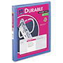 "Avery Durable View Binder with Slant Rings, 11 x 8 1/2, 1/2"" Capacity, Periwinkle"