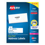 Avery White Laser Address Labels with Smooth Feed Sheets™, 1 1/3x4 Label, 1400 Labels/Bx