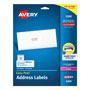 Avery White Laser Address Labels with Smooth Feed Sheets™, 1x2 5/8 Label, 750 Labels/Pack