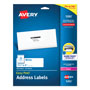"Avery White Laser Address Labels with Smooth Feed Sheets™, 1 1/3x4"", 350 per Pack"