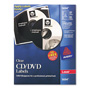 Avery CD/DVD Clear Glossy Label for Laser Printers, 40 per Pack
