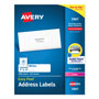 "Avery White Laser Address Labels on Smooth Feed Sheets™, 1x4"", 5000 per Pack"