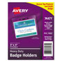"Avery Photo ID Badge Holder, Horizontal, 4""x3"", Clear, 25 per Pack"