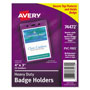 "Avery Photo ID Badge Holder, Vertical, 3""x4"", Clear, 25 per Pack"