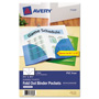 "Avery Fold Out Binder Pockets, 5 1/2""x8 1/2"", Assorted, 3 per Pack"